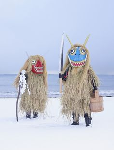My nephew and niece love Namahage. This picture reminds me of them :)