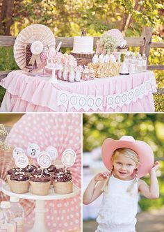 Shabby Chic Cowgirl Party Dessert Table from Paiges of Style via Hostess With the Mostess