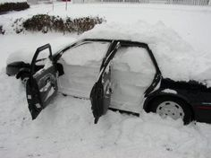 Snow is not a bad thing until you forget to roll up the windows. December 12, 2010.