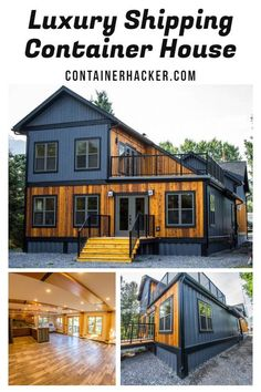 Luxury Shipping Container House - Canada - Living in a Container Building A Container Home, Storage Container Homes, Container Buildings, Cargo Container Homes, Container Van, Container Flowers, Shipping Container Home Designs, Shipping Container House Plans, Shipping Containers