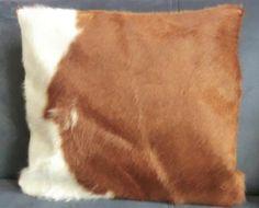 KUHIE, Kuhfell Kissen Set in braun und braun-weiß von Gmischtesach:  Die Tasche mit der Kuh !! auf DaWanda.com