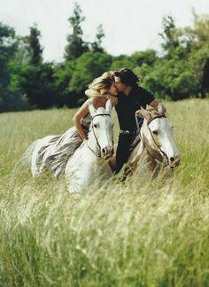 Romantic horseback ride. #RalphLauren