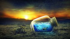 Life in a Bottle Ultra HD Desktop Background Wallpaper for : Widescreen & UltraWide Desktop & Laptop : Multi Display, Dual & Triple Monitor : Tablet : Smartphone