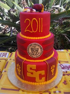 A USC Trojans graduation cake for one Dr. Eric Medrano. FIGHT ON!!!