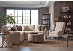 Craftmaster -MONTFORD casual slip covered sectional, box pleat skirt. Also available in sofa, love seat, chair, ottoman and sleeper
