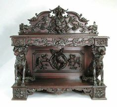Alexander Roux Walnut Server - Sold at auction for $193,050.00 .... Yes, you read that correctly for this phenomenal work of art.