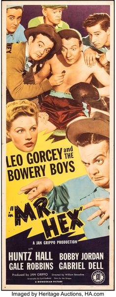 World's Largest Collectibles Auctioneer Turner Classic Movies, Classic Movie Posters, Retro Posters, Poster Vintage, Classic Films, Film Posters, Leo Gorcey, The Bowery Boys, Sunday Movies