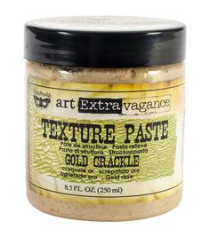 Prima Marketing Finnabair Art Extravagance Texture Paste 8.5oz - Crackle Gold