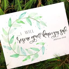 Starting to teach some simple Bible verses to the 1 and 2 year olds in the nursery at church and used the first half of this verse on Sunday. They had been playing and pretending to rescue each other and it seemed like the perfect lead in. So thankful our God is a rescuer! • • • #handlettering #handlettered #lettering #letteringart #watercolor #moderncalligraphy #calligraphy #brushlettering #brushpen #brushcalligraphy #wreath #christiancreative #communityofchristiancreatives…