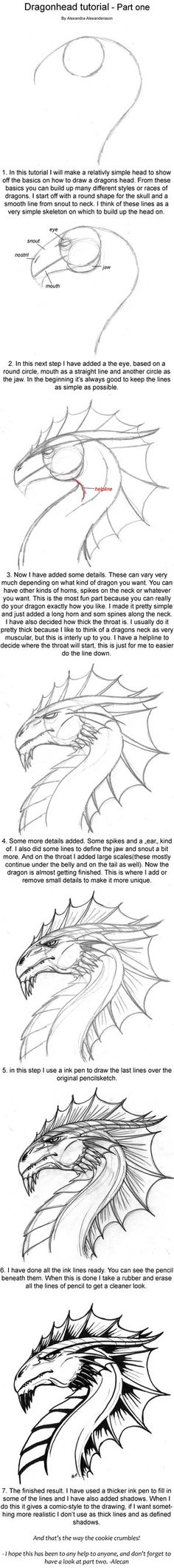 Dragonhead Tutorial part one by ~alecan on deviantART