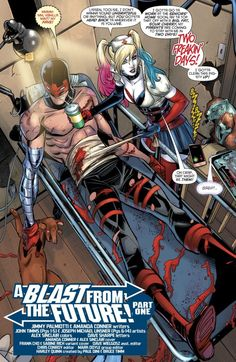 Harley Quinn Playing Nurse To Red Tool Cute Comics, Dc Comics, Harley Quinn Comic, Action Comics 1, A Day In Life, Bat Family, Bucky Barnes, Gotham, Marvel Dc