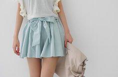 blue pastel skirt