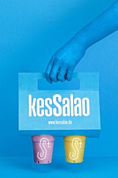 """Spanish-based creative agency, Masquespacio, has designed the brand identity, interior design, and packaging for Kessalao.  Kessalao is a new take-out food store serving Mediterranean dishes in the city of Beethoven, Germany. The initial concept started from the brand identity – a wordplay on the German world """"Kress"""" and the Spanish word """"Salao""""."""