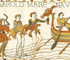 Discover recipes, home ideas, style inspiration and other ideas to try. Bayeux Tapestry, Medieval Tapestry, Medieval Art, Medieval Clothing, Vikings, Anglo Saxon History, Ottonian, Medieval Embroidery, Craft Cupboard