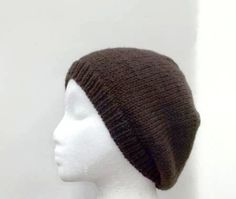 Dark brown wool beanie beret cap hat  hand knitted  by CaboDesigns, $26.00 - The color of this beanie beret is a taupe brown (dark brown). This beanie is stretchy and will fit any head, will stretch out to 30 inches around. Medium thickness. http://www.CaboDesigns.etsy.com
