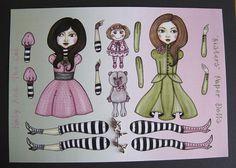 Schwesternartikuliert Paper Dollmachen es sich von katyandthecat