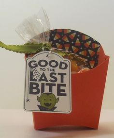Fry box,Merry Everything,Halloween treats,Stampin' Up!