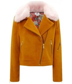 Burnt Orange Faux Fur Agnes Jacket