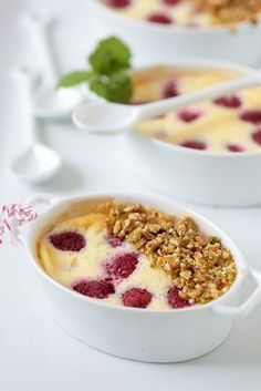 Mascarpone Raspberry Gratins.... If I can ever eat dairy again I think this is first on the list.
