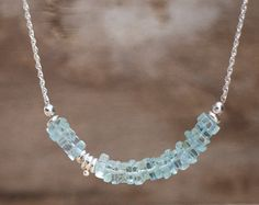 Aquamarine Jewelry Silver and Aquamarine by RusticaJewelry on Etsy