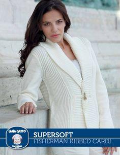 SuperSoft – Fisherman Ribbed Cardi | Knitting Fever Yarns & Euro Yarns