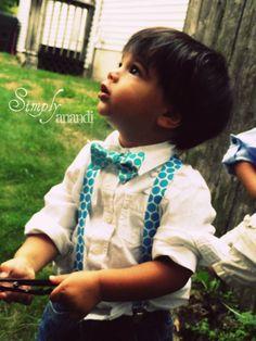 Baby boy suspender bow tie set-Suspenders/bowtie set--Polka Dot----Spring--Blue-Olive--Orange suspenders