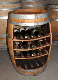 Wine Barrel Furniture Rack