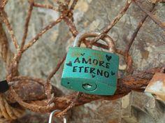 a lock in cinque terre, italy. I love that idea :)