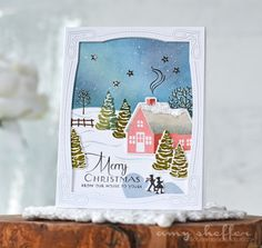 Merry Christmas Card by Amy Sheffer for Papertrey Ink (September 2016)