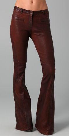 Elizabeth And James Bell Bottom Leather Pants