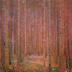 """Gustav Klimt:  """"Fir Forest I"""""""