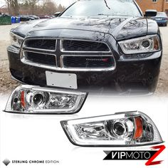 Tron Style 2011 2013 Dodge Charger Chrome Halo Drl Projector Head Lights Lamps Ebay Motors Parts Accessories Car Truck Parts Ebay