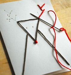 簡単北欧クリスマスカード作り方
