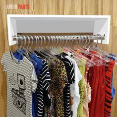 cabideiro de parede 60x20x25 100% mdf - várias cores Organization, How To Plan, Room, Shirts, Inspiration, Furniture, Home Decor, Ideas, Fashion