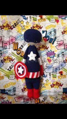 Captain America  Crochet Lalylala made by Eleni H./crochet pattern by lalylala