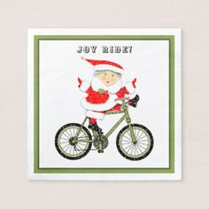 cycling holiday party paper napkin - home gifts ideas decor special unique custom individual customized individualized