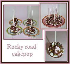 Rocky road stroopwafel cakepop