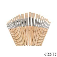 24 Pc. Wonderful White Bristles! Easel Brush Set