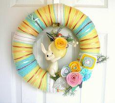 pretty wreath in great colours