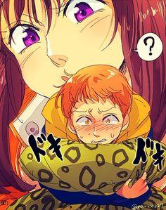 Nanatsu no Taizai, king and diane Seven Deadly Sins Anime, 7 Deadly Sins, Manga Anime, Anime Art, My Little Pony, Seven Deady Sins, 7 Sins, Chibi, Happy Tree Friends