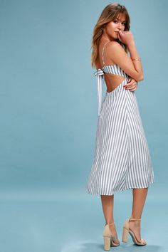 54f437c0b3 Cute Dresses, Tops, Shoes & Clothing for Women. Striped Midi DressMidi SkirtSun  HatsStripe ...