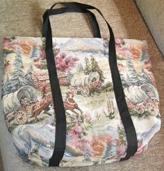 Handmade Tote Bags Oregon Trail Tapestry