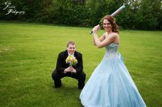 A sports prom photo is always fun!