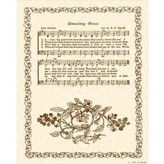 AMAZING GRACE Hymn Art Custom Christian Home Decor VintageVerses Sheet Music Inspirational Wall Art When We've Been There Ten Thousand Years by VintageVerses on Etsy https://www.etsy.com/listing/53247328/amazing-grace-hymn-art-custom-christian