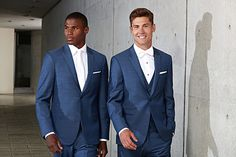 Stunning Ike Behar, Ultra Slim Indigo Blue Lane suit from Jim's Formal Wear! Stop in to see our selection of suit & tuxedo rentals! Mens Fashion Casual Shoes, Mens Fashion Suits, Denim Fashion, Black Tie Tuxedo, Tuxedo Suit, Blue Tuxedos, Blue Suits, Simple Shirts