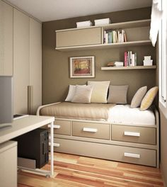 Small Bedroom Design for Adult. Small Bedroom Design for Adult. so Your Bedroom S Not Much Bigger Than Your Bed Here S How Couple Bedroom, Small Room Bedroom, Home Bedroom, Bedroom Decor, Spare Room, Kids Bedroom, Bedroom Furniture, Furniture Ideas, Bed Room