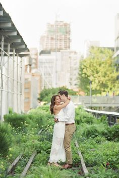 Elegant NYC High Line Engagement Session – Style Me Pretty