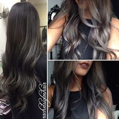black and silver hair - Pesquisa Google