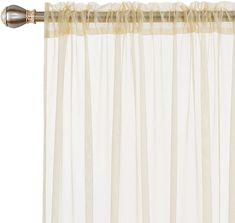 Deconovo Sheer Curtains - CountryCurtains Curtain Rods, Sheer Drapes, Outdoor Curtains, Rod Pocket Curtains, Roller Blinds, Patio Doors, Soft Furnishings, Sliding Doors