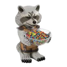Guardians of the Galaxy Rocket Raccoon Candy Bowl Holder - Rubies - Guardians of the Galaxy - Dining and Entertaining at Entertainment Earth